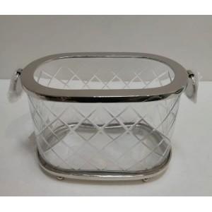 pojemnik kryształowy z uszkami