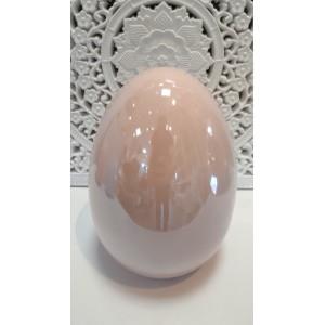 Różowe jajko ceramiczne