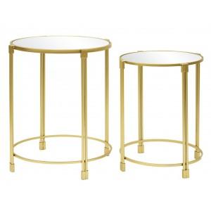 komplet złotych stolików
